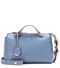 Fendi By The Way Small Leather Tote Blue