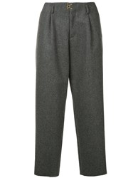 Kolor Knitted Tailored Trousers Grey