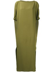 Gianluca Capannolo Maxi T Shirt Dress Women Silk 44 Green
