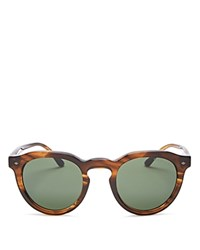 Giorgio Armani Keyhole Round Sunglasses 47Mm Striped Brown