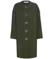Marni Silk Blend Coat Green