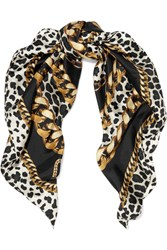 Marc Jacobs Printed Silk Twill Scarf Black