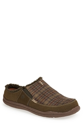 Acorn 'Wearabout' Clog Slipper Men Moss