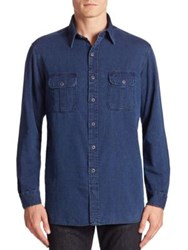 Polo Ralph Lauren Denim Casual Button Down Shirt Indigo
