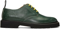 Maison Martin Margiela Green Leather Distressed Derbys