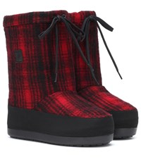 Woolrich Checked Arctic Snow Boot Red