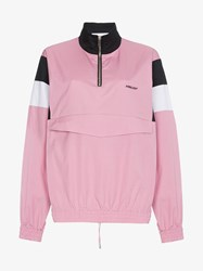 Ambush Oversized Long Sleeve Cotton Track Shirt Pink And Purple