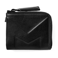 Moncler Leather Embossed Coin Wallet Black