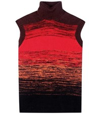 Bottega Veneta Wool Turtleneck Sweater Vest Multicoloured