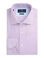 Paul Costelloe Chester Textured Cotton Shirt Pink