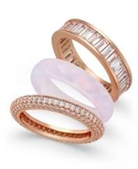 Paul And Pitu Naturally Rose Gold Tone 3 Pc. Set Stack Rings