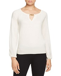 Tory Burch Gemini Link Cashmere Sweater New Ivory