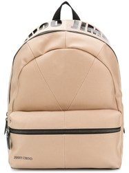 Jimmy Choo Reed Backpack Nude And Neutrals