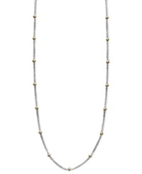 Giani Bernini Sterling Silver And 18K Gold Over Sterling Silver Necklace 18' Bead Chain Necklace