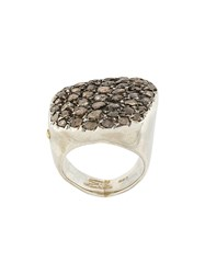 Rosa Maria Diamond Ring Metallic