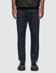 Prada Tiangle Logo Tapered Jeans Blue