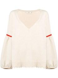 Dorothee Schumacher V Neck Jumper Neutrals