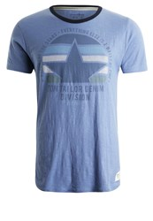 Tom Tailor Denim Print Tshirt Colony Fog Blue Light Blue