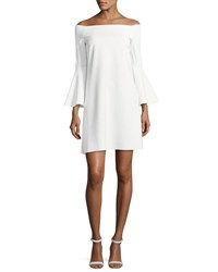 La Petite Robe Di Chiara Boni Natalia Off The Shoulder Jersey Cocktail Dress White