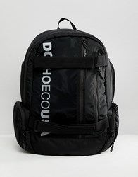 Dc Shoes Skate Backpack In Black With Logo