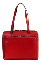 Lodis 'Audrey Collection Organizer' Tote With Shoulder Strap Red Red Black