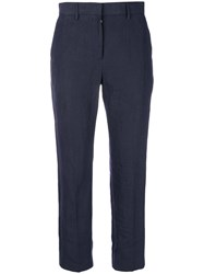 Paul Smith Cropped Tailored Trousers Blue