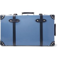 Globe Trotter Deluxe 26 Leather Trimmed Suitcase Blue