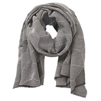Betty Barclay Long Woven Scarf Grey Silver