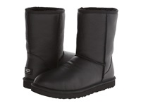 Ugg Classic Short Leather Black Leather Sheepskin Men's Boots