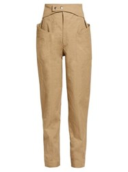 Isabel Marant Lixy Belted High Rise Tapered Trousers Khaki