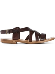 Silvano Sassetti Buckled Strappy Sandals Brown