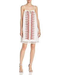 Aqua Embroidered Tassel Shift Dress 100 Exclusive Ivory