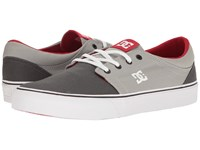 Dc Trase Tx Grey Grey Red Skate Shoes Gray