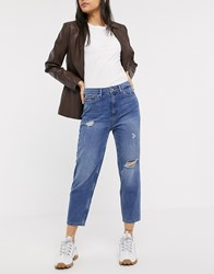 Only Distressed Mom Jean Blue