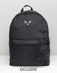 Reclaimed Vintage Lightweight Chevron Backpack Black Black