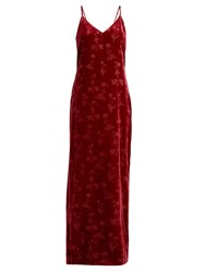 Elizabeth And James Valerie Velvet Slip Dress Red