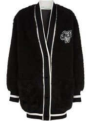 Off White Varsity Cardigan Black