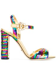 Dolce And Gabbana Sequin Strap Sandals