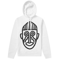 Comme Des Garcons Shirt Cut Out Mask Hoody White
