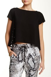 Bb Dakota Sidonia Lace Back Tee Black