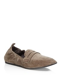 Charles David Milly Suede Loafers Gray