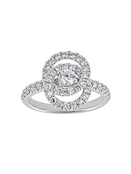 Saks Fifth Avenue Diamond And 18K White Gold Love Knot Ring