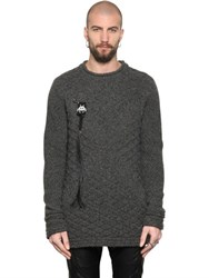 Tom Rebl Space Invaders Honeycomb Knit Sweater