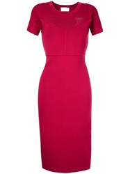 Ginger And Smart Addictive Crepe Knit Dress Pink