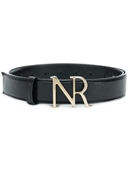Nina Ricci Branded Buckle Belt Black