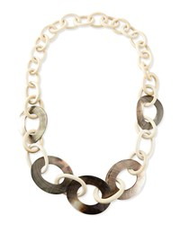 Wood And Mother Of Pearl Link Necklace Viktoria Hayman
