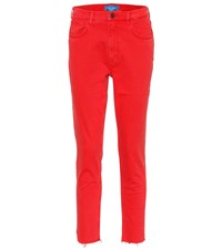 Mih Jeans Mimi High Waisted Red