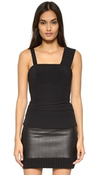 Vera Wang Bustier Top With Back Lace Up Detail Black