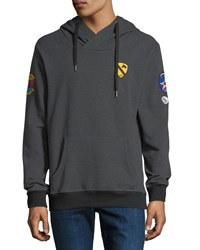 Civil Society Patchwork Pullover Hoodie Charcoal