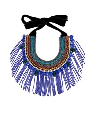 Etro Crystal And Bead Embellished Necklace